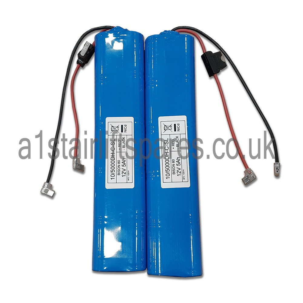 Acorn 180 curved stairlift batteries - A1 Stairlift Spares