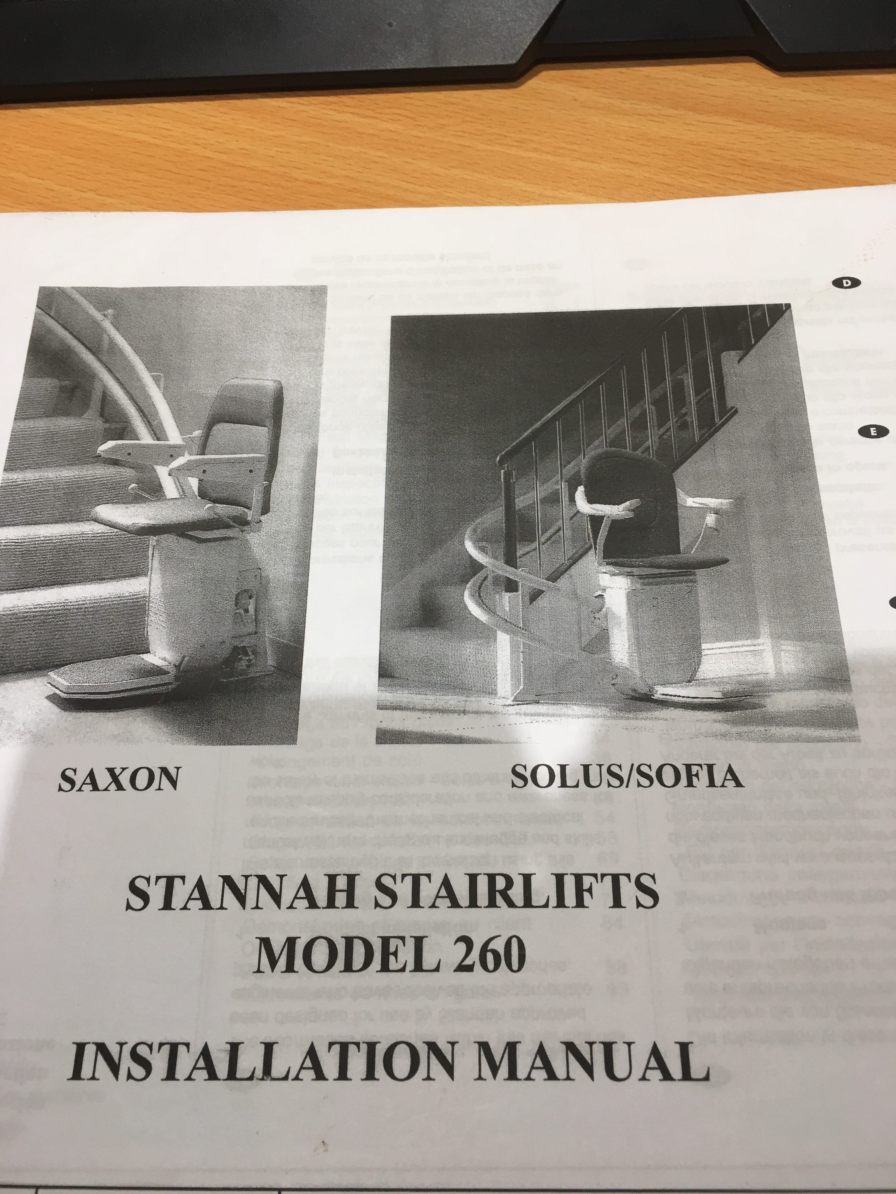 Stannah 260 Installation Manual